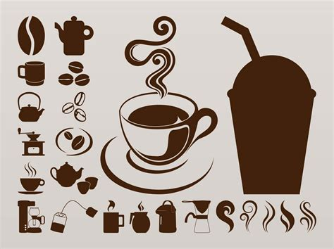 Coffee Icons Graphics Vector Art & Graphics