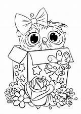 Owl Coloring Tulamama Printables Cuties sketch template