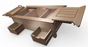 Table Basse Coffre Bar : une table coffre moderne et astucieuse bois le bouvet ~ Teatrodelosmanantiales.com Idées de Décoration