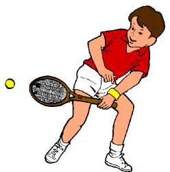 Playing Tennis Clip Art