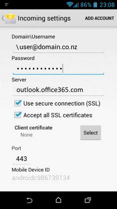 Office 365 Mail Setup Android by Import Office 365 Contacts To Android Phone Sync Export