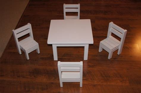 ana white claras table   stackable chairs sized