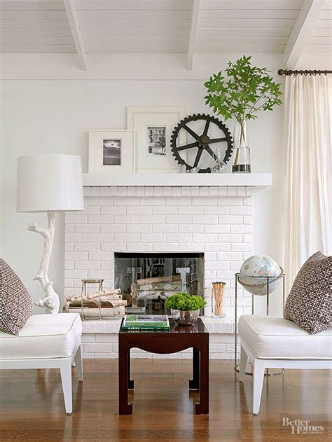 painted brick stone fireplace inspiration  inspired