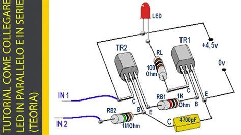 TUTORIAL COME COLLEGARE I LED IN PARALLELO E IN SERIE