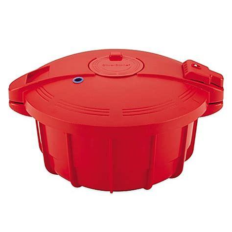 silverstone  qt microwave pressure cooker  chili red bedbathandbeyondcom