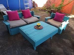 Salon De Jardin Palettes : salon de jardin en palettes de bois woodworking project ~ Farleysfitness.com Idées de Décoration