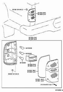2002 Toyota Tacoma Tail Light Lens  Left  Rear   Lens
