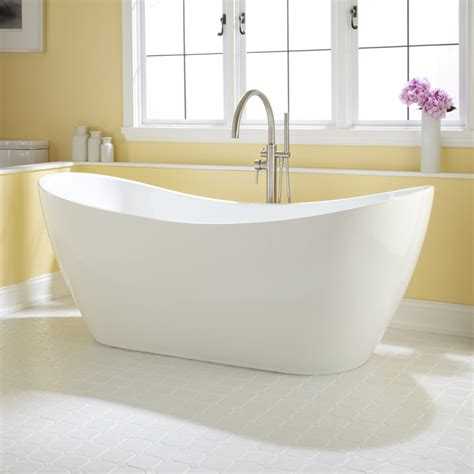 Freestand Bathtub by 72 Quot Acrylic Slipper Tub Bathroom