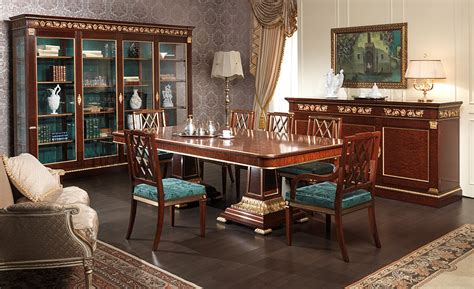 dining table ermitage impero style vimercati classic