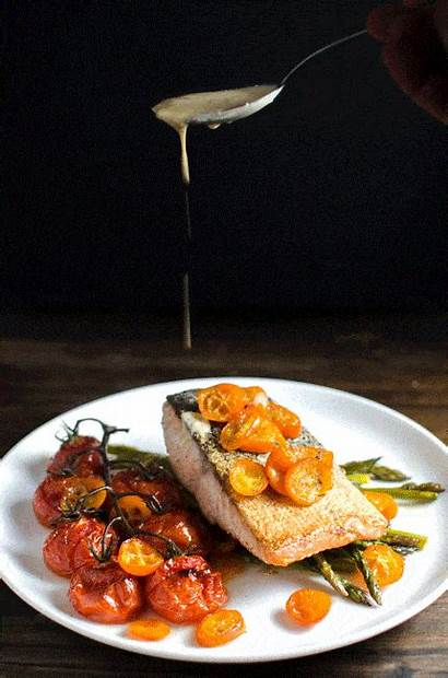 Salmon Pan Fried Roasted Vegetables Butter Brown
