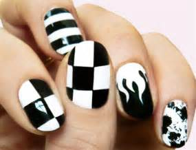 Black nail art designs supplies for beginners simple