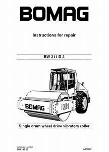 Bomag Bw 211 5 Single Drum Vibratory Roller Circuit Diagram Manual