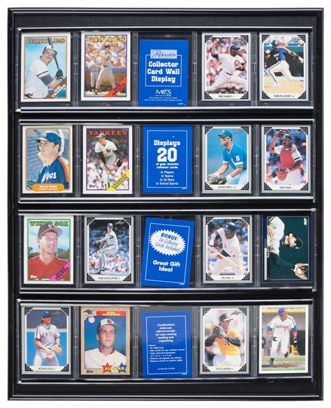 Check spelling or type a new query. This Baseball Card Display Trophy Case Is Perfect For Wall Mounting! This Black Holder Is Great ...