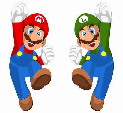 Mario Luigi Bros Clipart Clip Brothers Vector