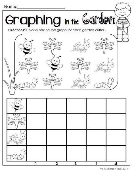 bug graph worksheet crafts and worksheets for preschool