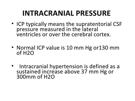 spinal fluid pressure range cerebrospinal fluid and intracranial pressure