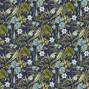 Ideco Home Flora Fauna Blue Green Foral Wallpaper