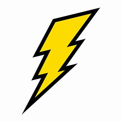 Lightning Bolt Vector Icon Electric Clipart Illustration
