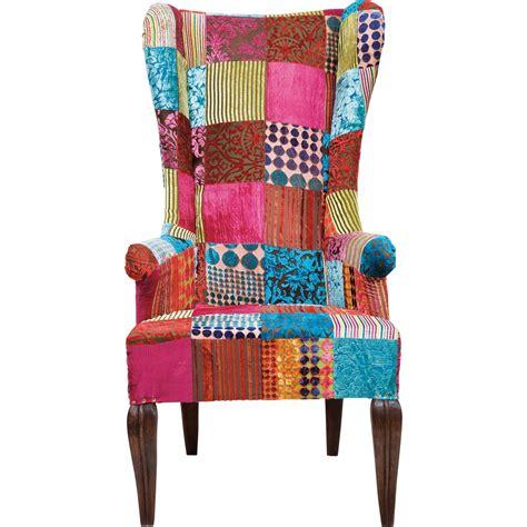 sessel ikea fauteuil traditionnel en velours multicolore patchwork