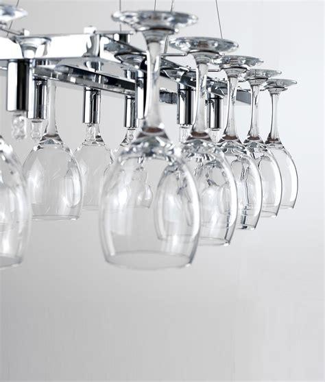 illuminated chrome light  wine glasses