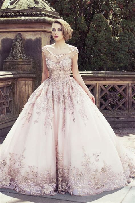 Utterly Blown Away By This Gorgeous Rose Gold Bridal Gown