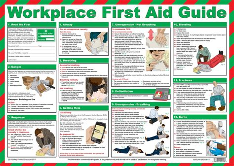 workplace safety posters  aid guide   mm