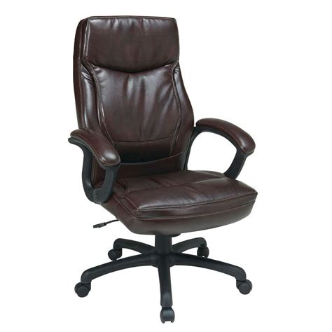 work smart mocha eco leather high back executive office