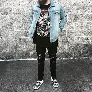 // METALLICA VINTAGE SHIRT x URBAN OUTFITTERS JACKET u0026 JEANS x VANS | Style wear | Pinterest ...