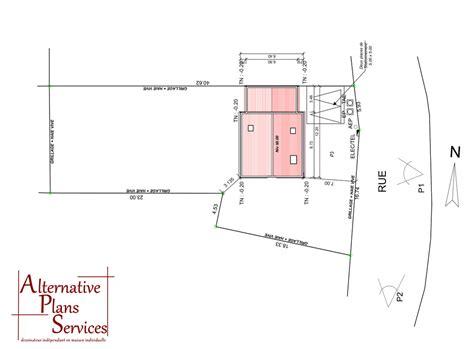 plan de masse maison individuelle maison moderne
