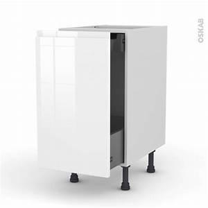 Frein De Porte De Cuisine : meuble de cuisine bas coulissant ipoma blanc brillant 1 ~ Edinachiropracticcenter.com Idées de Décoration