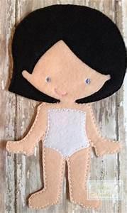felt dress up doll template - cloth doll pattern pdf rag doll sewing by