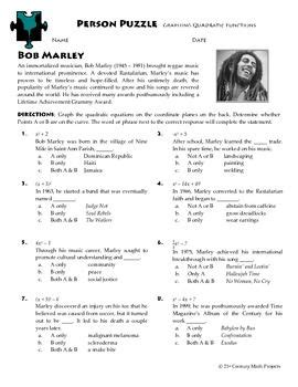 stephen hawking biography worksheet person puzzle graphing quadratic functions bob marley