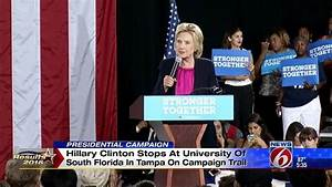 Hillary Clinton campaigns at USF in Tampa