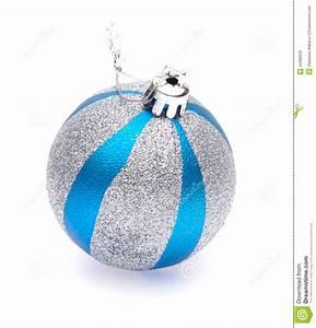 Boule De Noel Bleu : boule de no l de bleu argent photo stock image 44390539 ~ Teatrodelosmanantiales.com Idées de Décoration