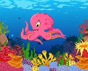 Cartoon underwater world beautiful vector 05 - Vector ...