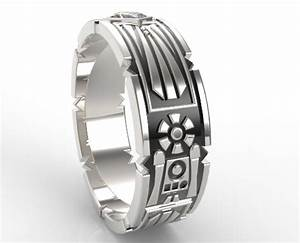 Star wars wedding band for men vidar jewelry unique for Star wars mens wedding ring