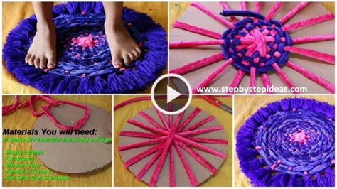 how to make a doormat from waste cloth how to make a doormat with clothes artsycraftsydad