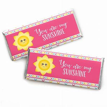Candy Bar Sunshine Wrappers Shower Favors Birthday