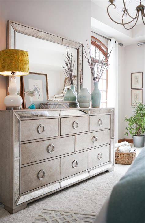 angelina dresser  mirror mirrored bedroom furniture