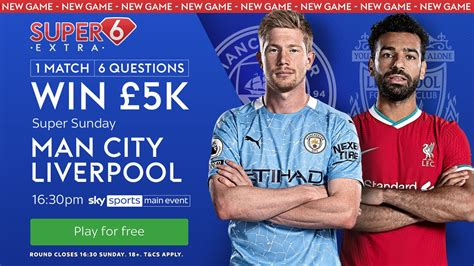 Manchester City vs Liverpool - NEW GAME! A chance to win £ ...