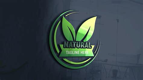 natural logo design  psd template graphicsfamily