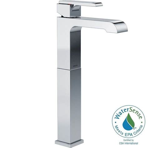 delta ara single hole single handle vessel bathroom faucet