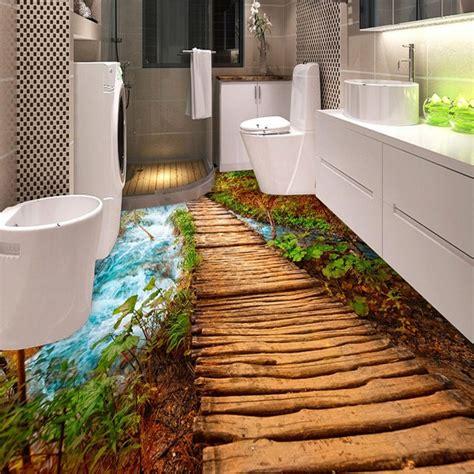pvc  adhesive waterproof  floor tiles wall paper