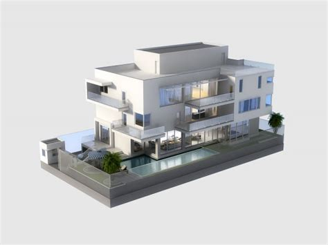 free 3d home interior design software 3d model luxury contemporary house with pool 3d model max