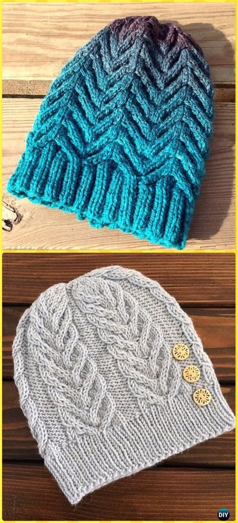 knit cable beanie hat  patterns