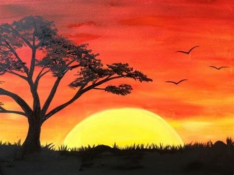 sunset drawing oil pastel  getdrawingscom