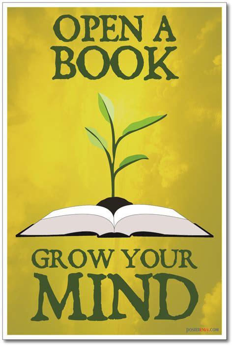 posterenvy open  book grow  mind  classroom