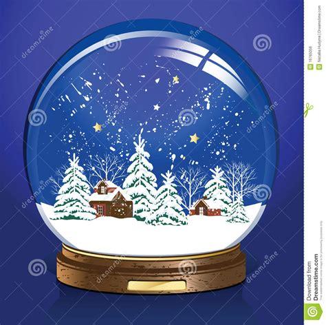 vector snow globe royalty  stock image image