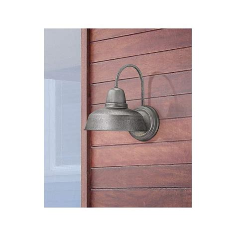 urban barn 13 quot high galvanized steel outdoor wall light