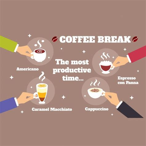 funny infographic  coffee vector